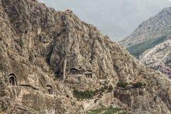 Tombe della roccia in Amasya, Turchia Immagine Stock