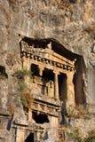 Tombe della roccia di Lykian Fotografia Stock
