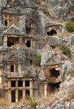 Tombe della roccia, Myra, Turchia immagini stock libere da diritti