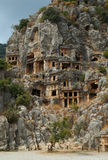 Tombe della roccia, Myra, Turchia immagine stock libera da diritti