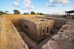 Tombe des rois, Paphos, Chypre photographie stock libre de droits