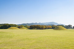 Tombe di Shilla in Gyeongju Fotografie Stock
