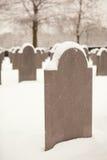 Tombe di Snowy Fotografie Stock Libere da Diritti