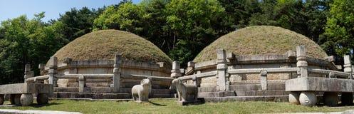 Tombe du Roi Kongmin, Kaesong, DPRK Images libres de droits