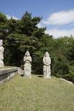 Tombe du Roi Kongmin, Kaesong, DPRK photographie stock libre de droits