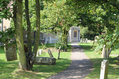 Tombe e cappella Immagine Stock Libera da Diritti