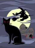 Tombe et sorcière Image libre de droits