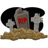 Tombe Halloween Image libre de droits