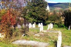 Tombe in Jibert, villaggio vicino a Rupea (rep), contea di Brasov S immagine stock libera da diritti