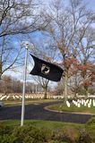 Tombe militari MIA Flag fotografia stock libera da diritti