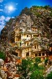 Tombe nelle alte montagne della roccia. Fotografie Stock Libere da Diritti