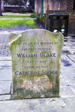 Tombe proche commémorative de William Blake, Londres photo stock