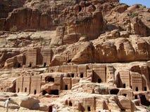 Tombe reali Petra Jordan fotografia stock libera da diritti