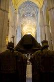 Tombeau cathédrale de Columbus, Séville Photo stock