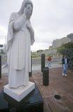 Tombeau catholique avec Madonna au site du bombardement du bâtiment fédéral, Ville d'Oklahoma, OK Photographie stock