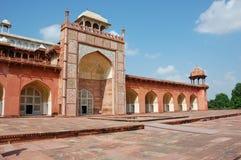 Tombeau d'Akbar, Inde Images libres de droits