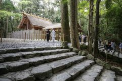 Tombeau d'Ise Jingu Naiku Grand, Japon photo libre de droits