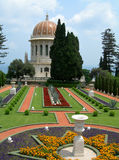 Tombeau de Bahai et jardin, Israël image stock