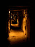 Tombeau de canalisation de Knowth Images libres de droits