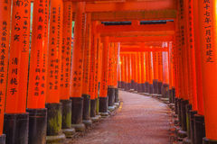 Tombeau de Fushimi Inari à Kyoto, Japon Image stock