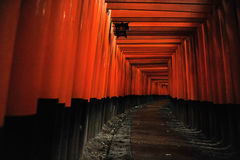 Tombeau de Fushimi Inari (Kyoto, Japon) Photos stock