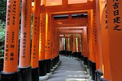 Tombeau de Fushimi Inari Taisha à Kyoto, Japon Photo libre de droits