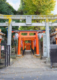 Tombeau de Hanazono Inari à Tokyo Images libres de droits