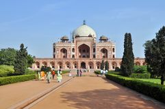 Tombeau de Humayun, Inde Images libres de droits