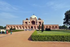 Tombeau de Humayun, Inde Photo stock