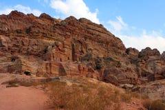 Tombeau de Nabatean dans PETRA, Image stock