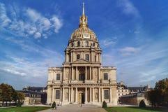 Tombeau de Napoléon Ier in Paris (France). Powerful building in Paris october 2014 stock photos