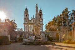 Tombeau de sanctuaire de notre Madame des remèdes dans Lamego Portugal images stock