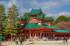 Tombeau de Visitiang Heian à Kyoto images stock
