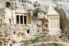 Tombeau de Zechariah et tombeau de porc Photo stock