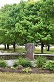 Tombeau du ` s de St Anne, La Motte d'île, le comté d'Island grand, Vermont, Etats-Unis USA Région de Champlain de lac image stock