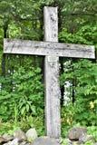 Tombeau du ` s de St Anne, La Motte d'île, le comté d'Island grand, Vermont, Etats-Unis USA Région de Champlain de lac image libre de droits