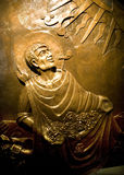Tombeau en bronze Mexique de Juan Diego Guadalupe d'allégement photo libre de droits