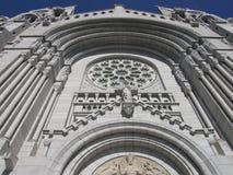 Tombeau et cathédrale chez Ste Anne de Beaupre photographie stock