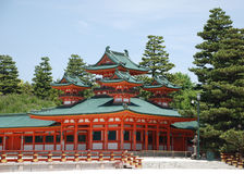 tombeau heian de jingu Photo stock