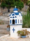 Tombeau orthodoxe grec de petit ménage, Grèce photographie stock