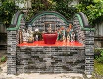 Tombeau pour la déesse Matsu chez Tung Shan Temple, Hong Kong China images libres de droits