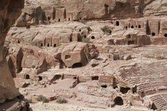 Tombeaux antiques dans PETRA, Jordanie, Moyen-Orient Photos stock