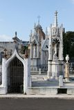 Tombeaux au cimetière de Columbus (Colón), La Havane, Cuba image stock