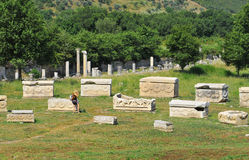 Tombeaux d'Ephesus Photo libre de droits