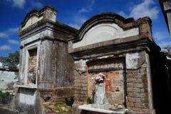 Tombeaux de cimetière de Lafayette Images libres de droits