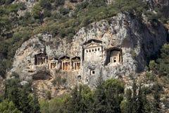 Tombeaux de Dalyan, Turquie Photographie stock libre de droits