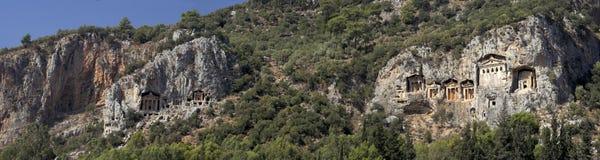 Tombeaux de Dalyan, Turquie photos libres de droits