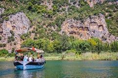 Tombeaux de Lycian Image libre de droits