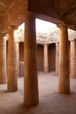 Tombeaux de rois dans Paphos, Chypre Photographie stock