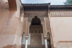 Tombeaux de Saadian à Marrakech, Maroc Images libres de droits